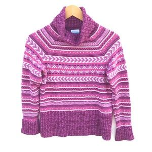 Columbia Turtle Neck Knitted Pull-Over Sweater